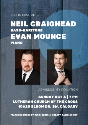 Neil Craighead (Bass-baritone) & Evan Mounce (Piano) in Recital Posters